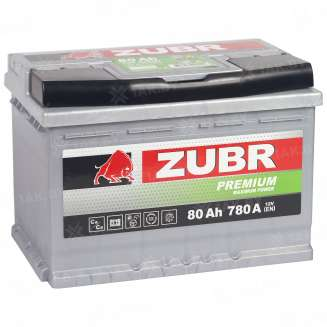 Аккумулятор ZUBR (80 Ah) 780 A, 12 V Прямая, L+ 8