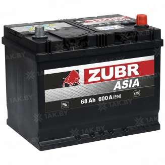 Аккумулятор ZUBR (68 Ah) 600 A, 12 V Обратная, R+ 6