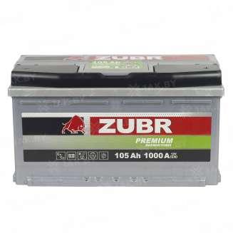 Аккумулятор ZUBR (105 Ah) 1000 A, 12 V Обратная, R+ 10