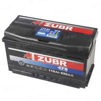 Аккумулятор ZUBR (110 Ah) 920 A, 12 V Обратная, R+ 9