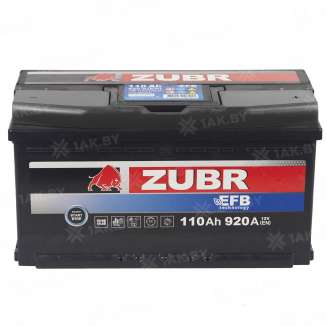 Аккумулятор ZUBR (110 Ah) 920 A, 12 V Обратная, R+ 10