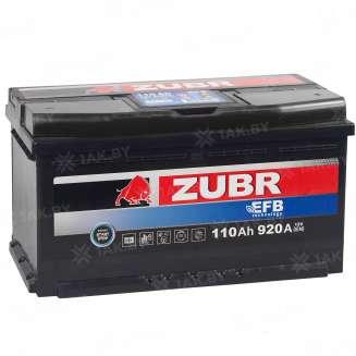 Аккумулятор ZUBR (110 Ah) 920 A, 12 V Обратная, R+ 11