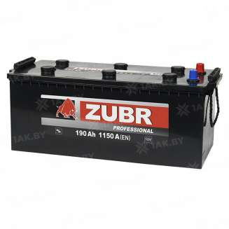 Аккумулятор ZUBR (190 Ah) 1150 A, 12 V Обратная, R+ 3