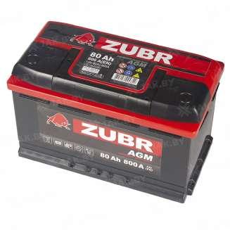 Аккумулятор ZUBR (80 Ah) 800 A, 12 V Обратная, R+ 9