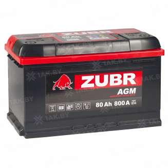 Аккумулятор ZUBR (80 Ah) 800 A, 12 V Обратная, R+ 11