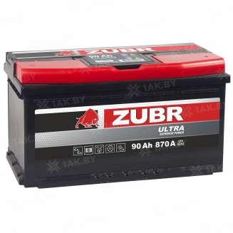 Аккумулятор ZUBR (90 Ah) 870 A, 12 V Обратная, R+ 9